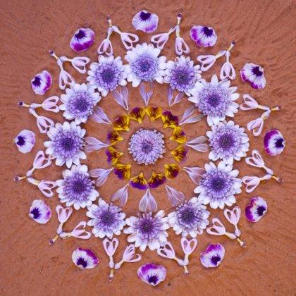 Mandala de flores da artista plástica Kathy Klein