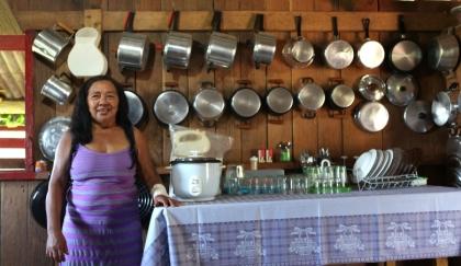 Moradora do Seringal Amapá, no município de Rio Branco, Acre (Foto: Arison Jardim)