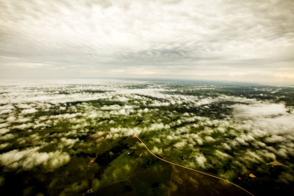 Vista aérea do Acre (Foto: Sérgio Vale)